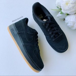 Nike Air Force 1 Prem Black Suede NWT